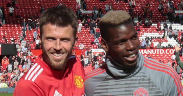 New United coach Carrick laughs off Pogba exit talk