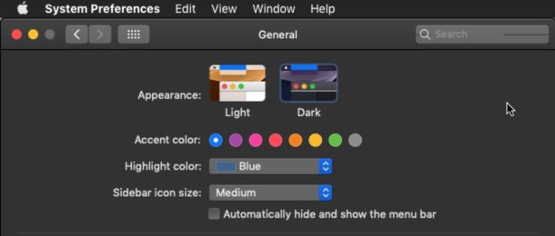 How to enable Dark Mode theme in Mac OS