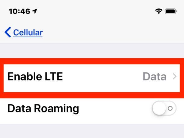 Disable Voice LTE
