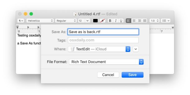 Get Save As Shortcut back in Mac OS