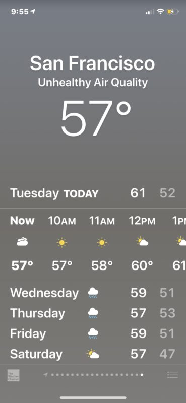 See air quality info in Weather app