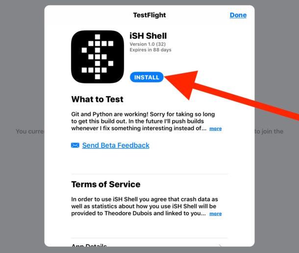 Install iSH Shell into iOS