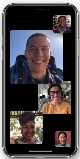 Group FaceTime video chat in iOS