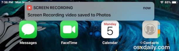 How to use Screen Recording in iOS on iPhone or iPad
