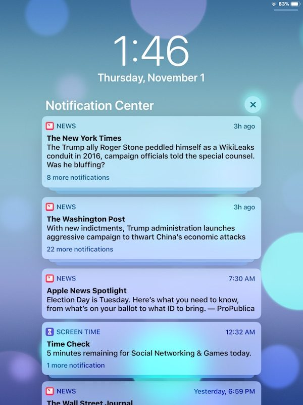How to find and access Notification Center in iOS