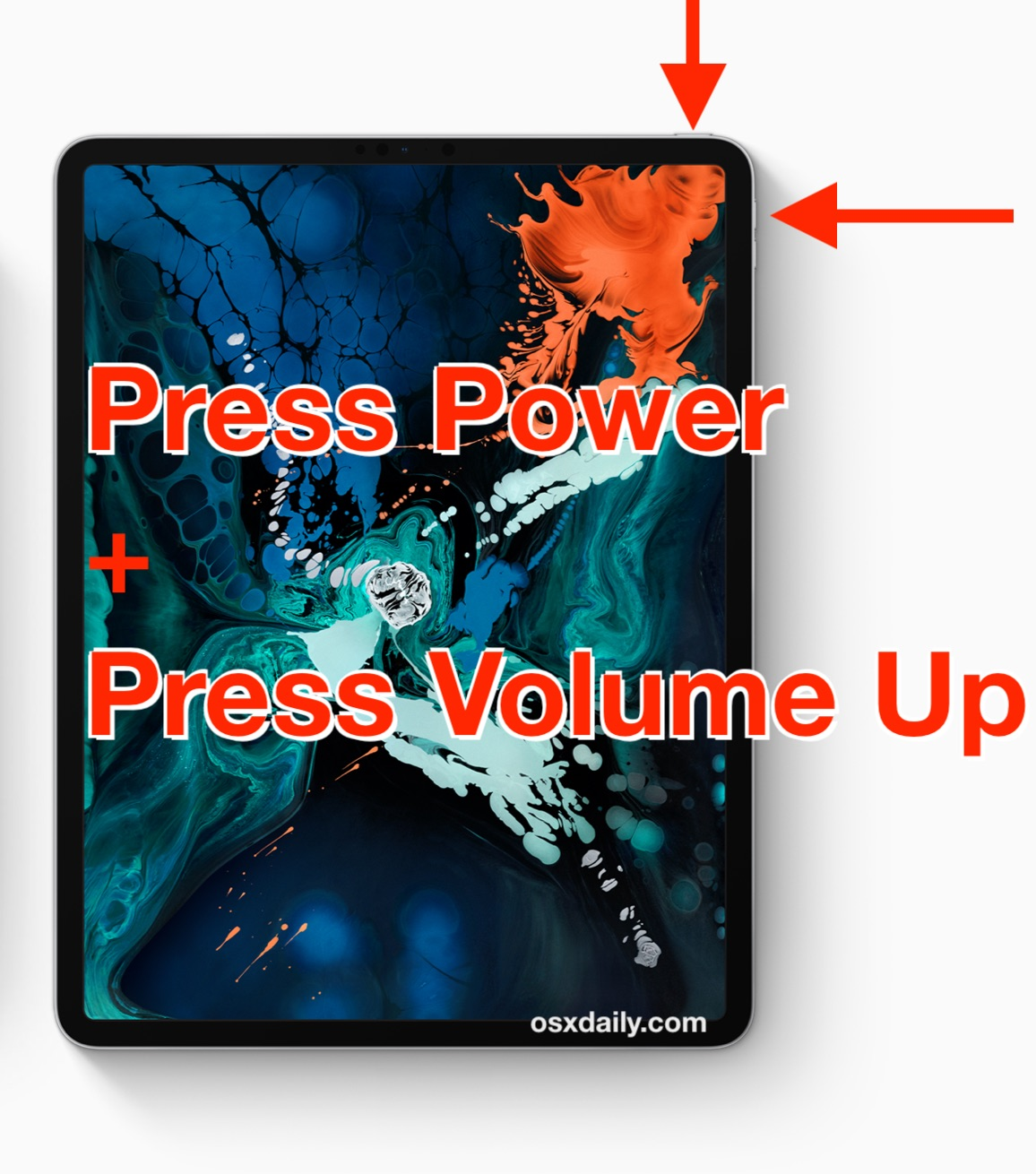 How to take screenshots on new iPad Pro without Home button