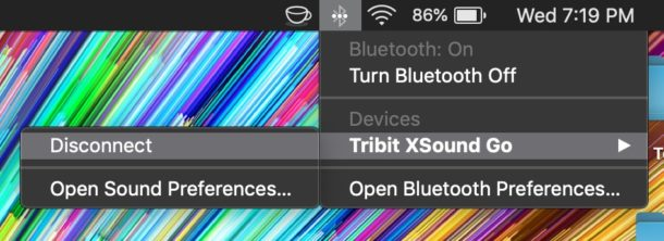 Disconnect from Bluetooth speaker on Mac