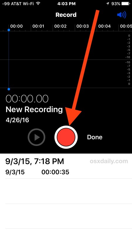 Record voice or audio with iPhone Voice Memos