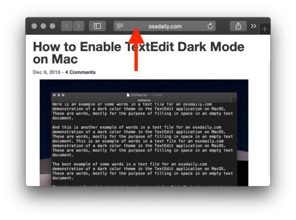 Normal browsing mode in Safari