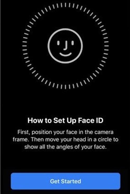 Setup Face ID on iOS