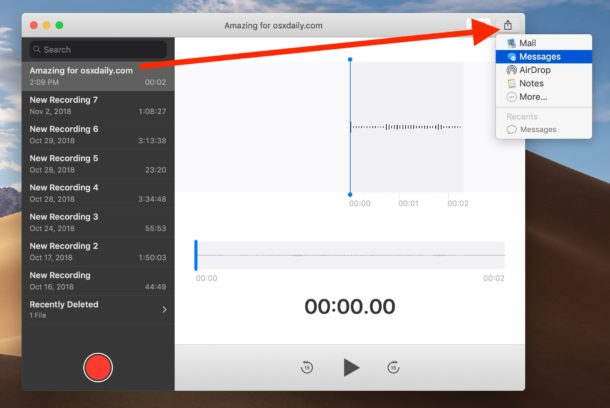 How to share voice memos on Mac to save audio file
