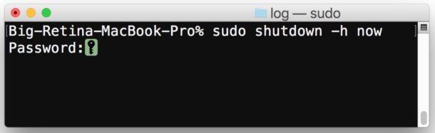 Shutdown a Mac from Command Line