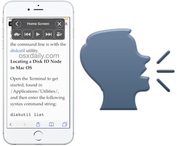 Speak Screen on iPhone and iPad