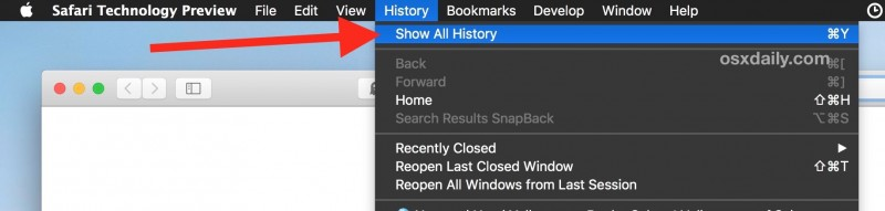 How to Access & Search Safari History on Mac