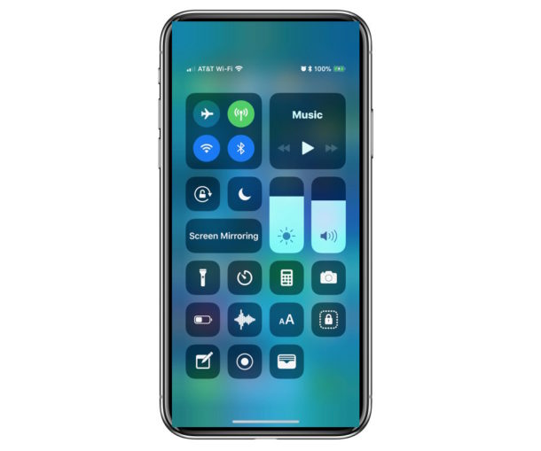 How to Access Control Center on iPhone X