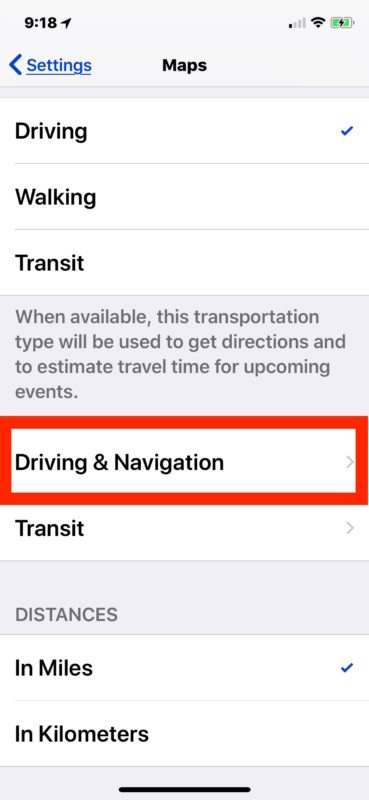"""How to Enable or Disable """"Avoid Highways"""" in Maps for iPhone"""