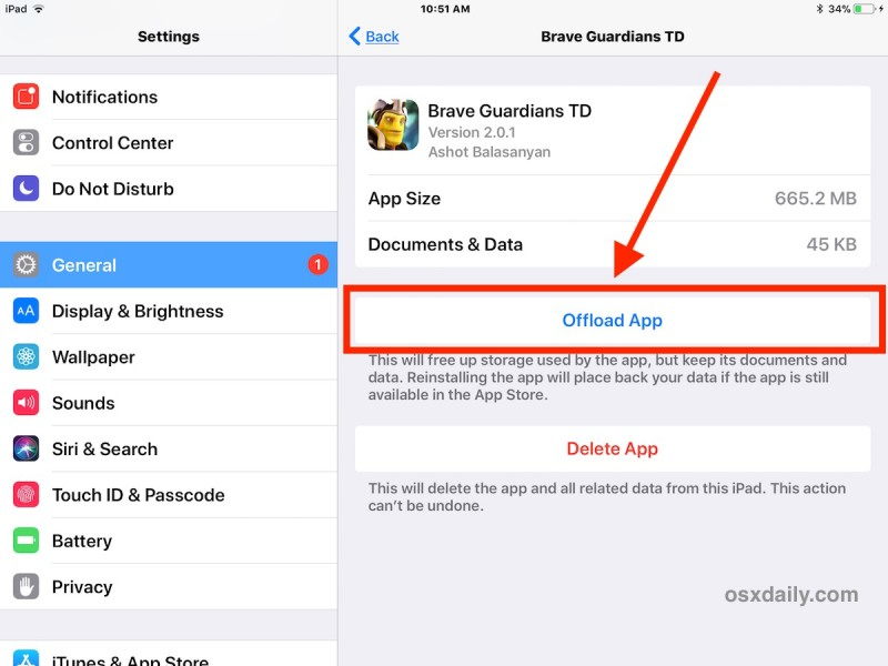 How to Offload Apps on iPhone or iPad to Free Up Storage Space
