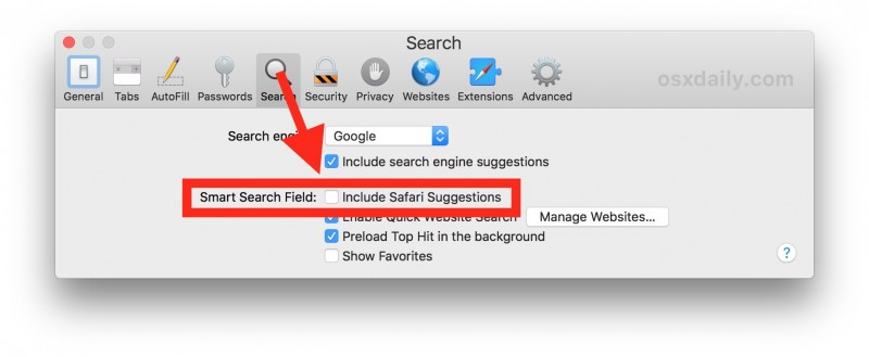 How to Turn Off Safari Suggestions on Mac