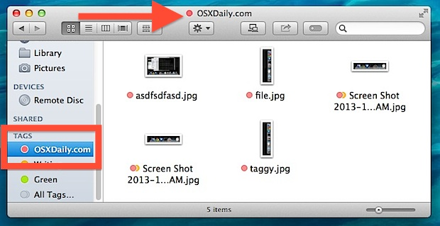Quickly Tag Files & Folders with a Drag & Drop in Mac OS X Finder