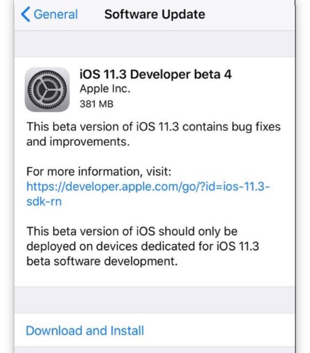 iOS 11.3 Beta 4, macOS 10.13.4 Beta 4 Released for Testing