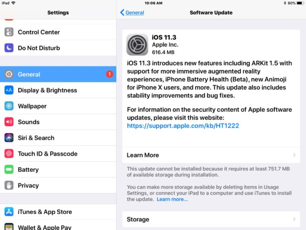 iOS 11.3 Download Released, Update Now for iPhone & iPad [IPSW Links]