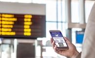 Boarding pass on smartphone